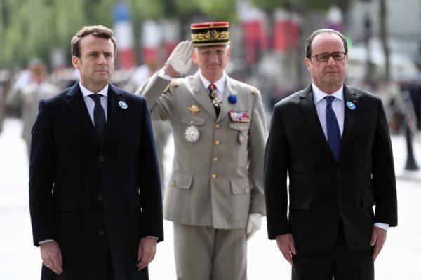 Эмманюэль Макрон и Франсуа Олланд
