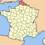 Нор-Па-де-Кале на карте Франции