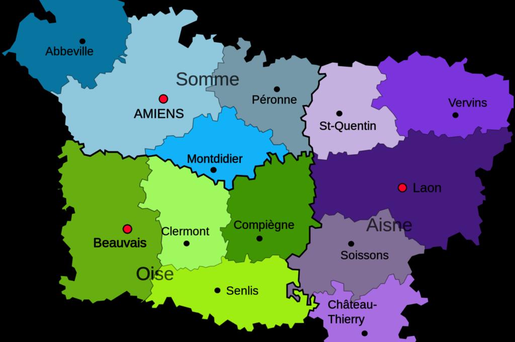 Карта Пикардии