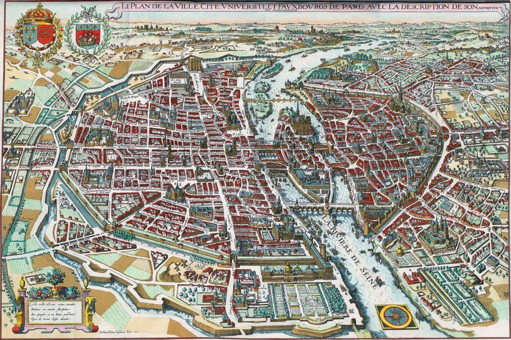 Старофранцузский период, карта