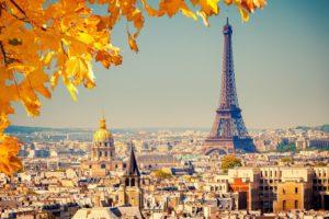 Погода в Париже осенью