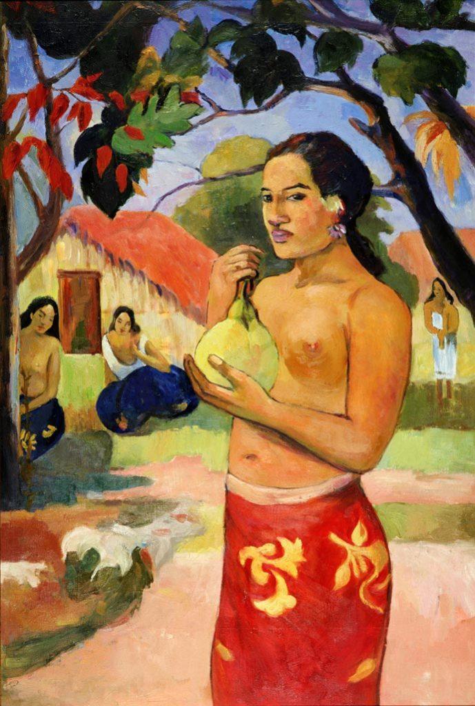 """Поль Гоген, """"Женщина, держащая плод"""""""