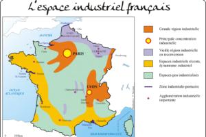 Карта промышленности Франции