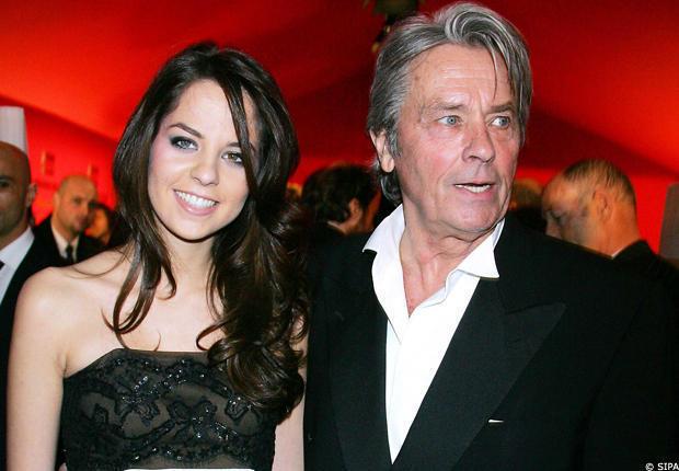 Ален Делон со своей дочерью