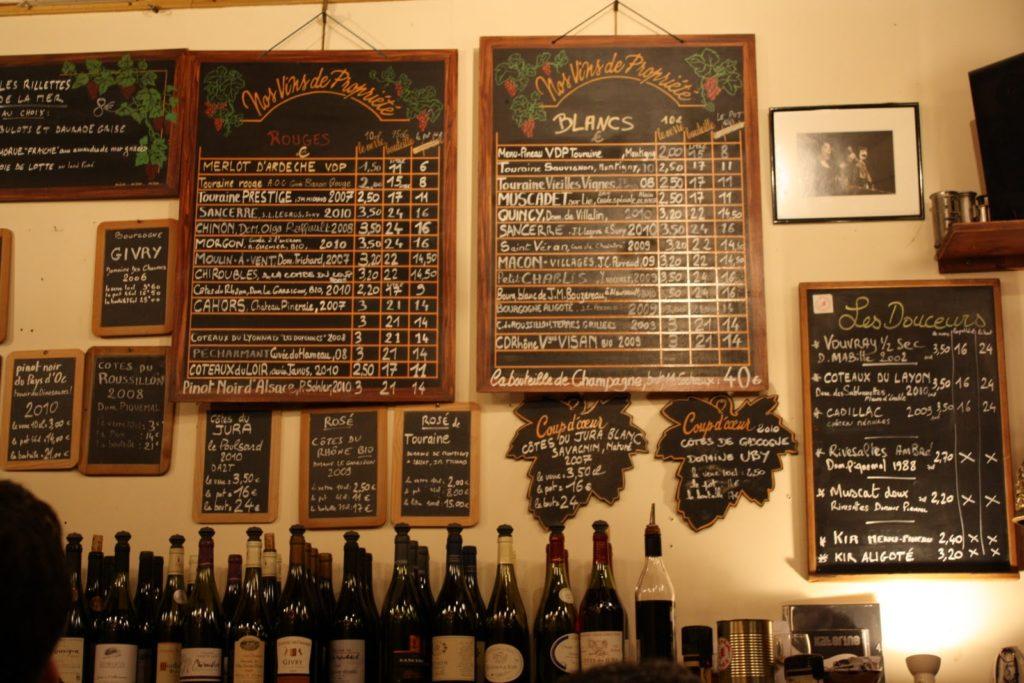 Лучшие винные бары Парижа