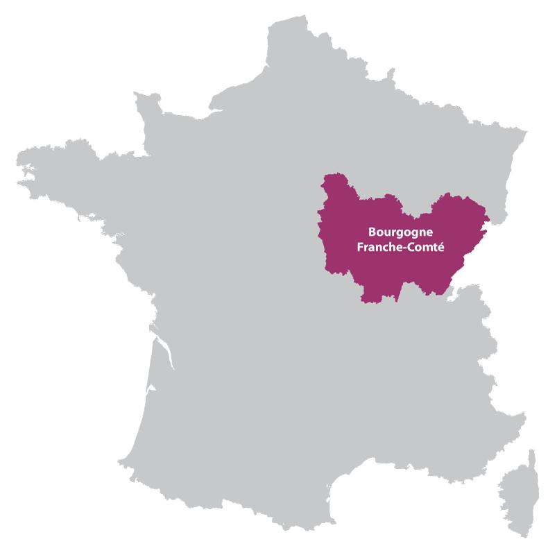 Франш-Конте на карте Франции