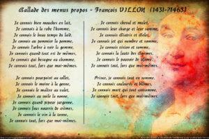 Francois Villon стихи на французском