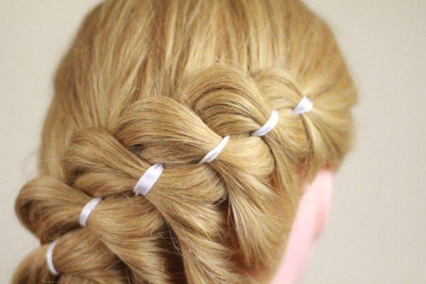 Французские косички на длинные волосы