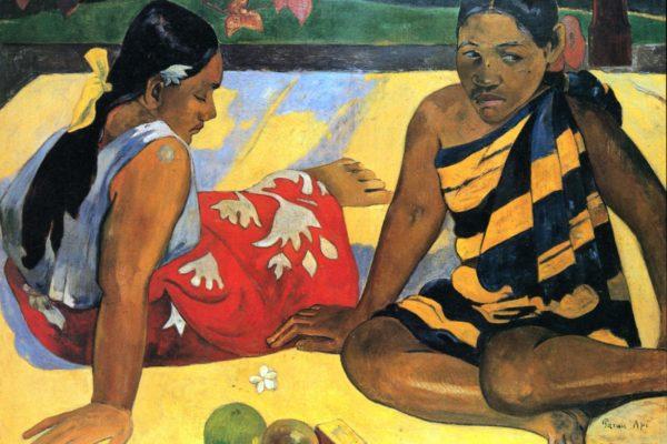 Таитянские женщины на берегу моря