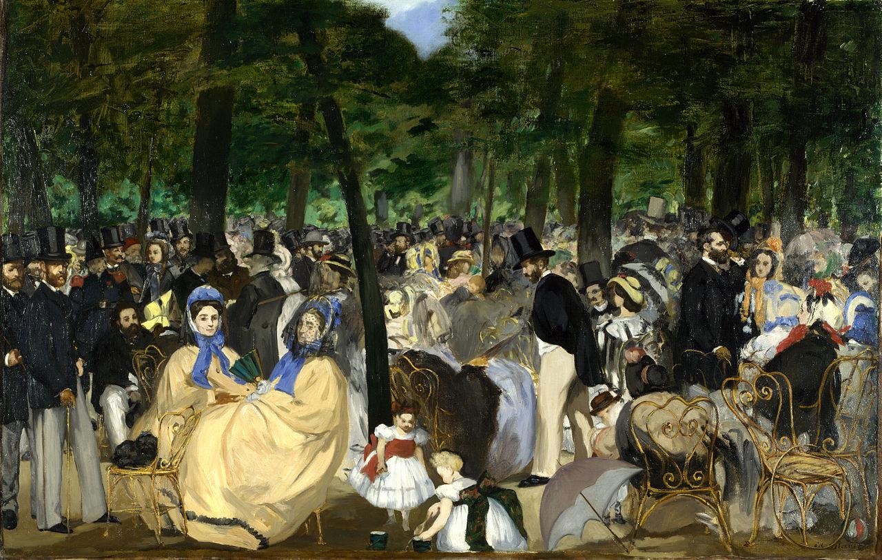 """Эдуард Мане """"Музыка в Тюильри"""", 1862"""