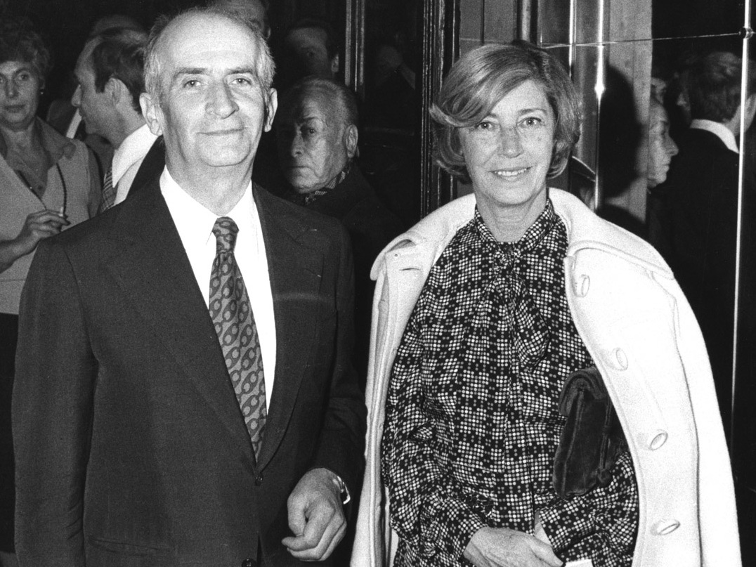 Луи де Фюнес с супругой