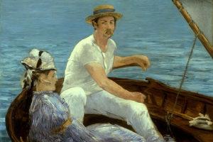 """""""В лодке"""", Эдуард Мане"""