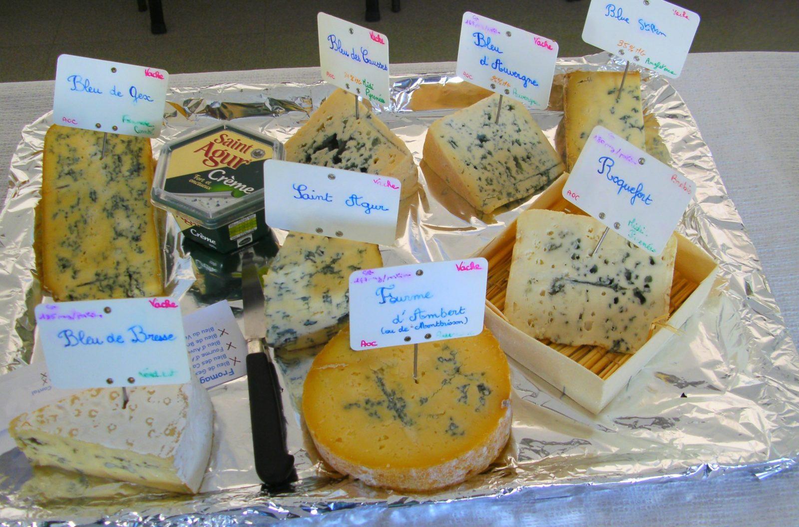 Виды французских сыров с плесенью
