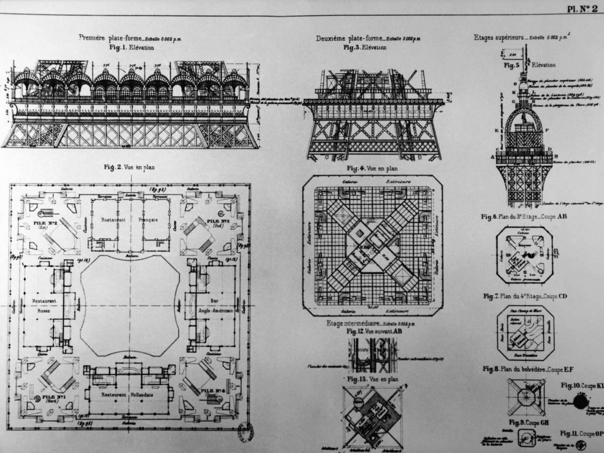 План строительства Эйфелевой башни