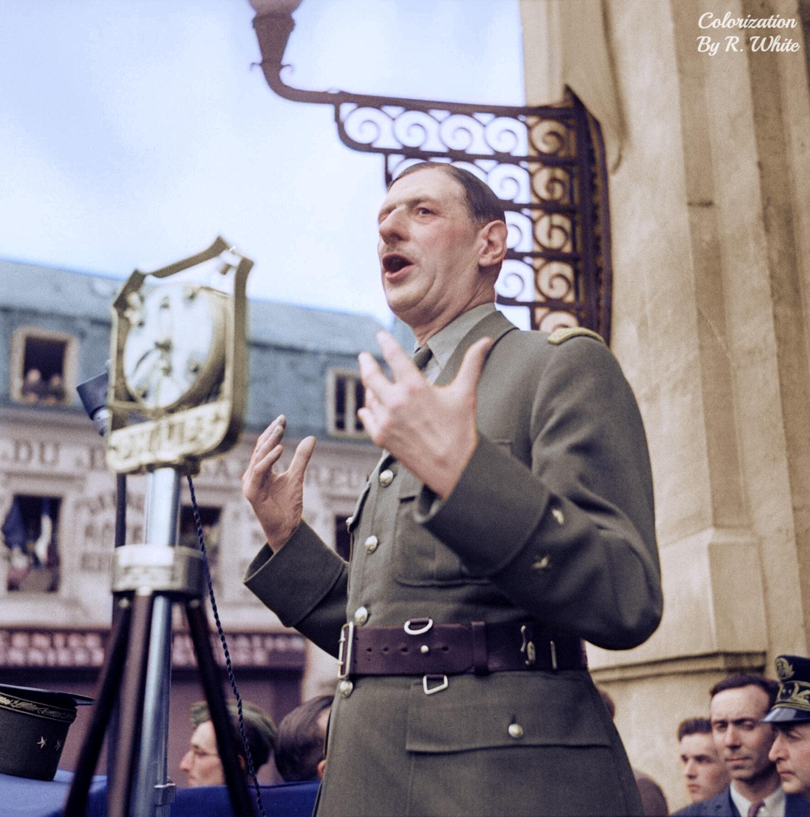 Шарль де Голль портрет