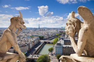 Вид на Париж с Нотр-Дам-де-Пари