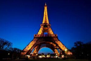 Париж Франция Эйфелева башня