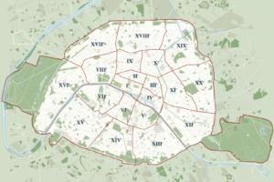 Округи Парижа карта