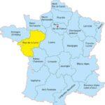 Земли Луары на карте Франции