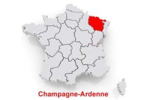 Шампань - Арденны на карте Франции