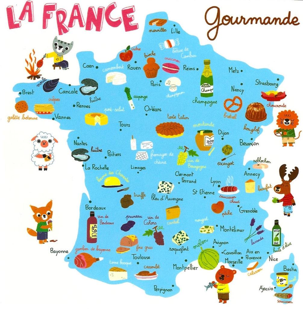 Карта французской кухни