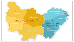 Бургундия - Франш-Конте карта