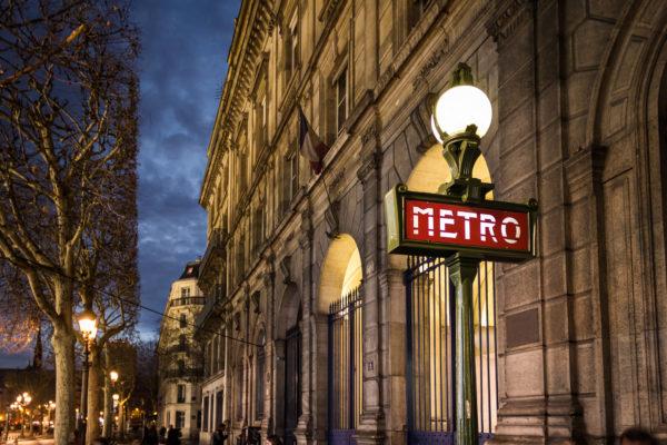 Метро Парижа с достопримечательностями