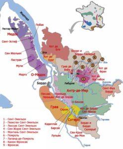 Винная карта Бордо