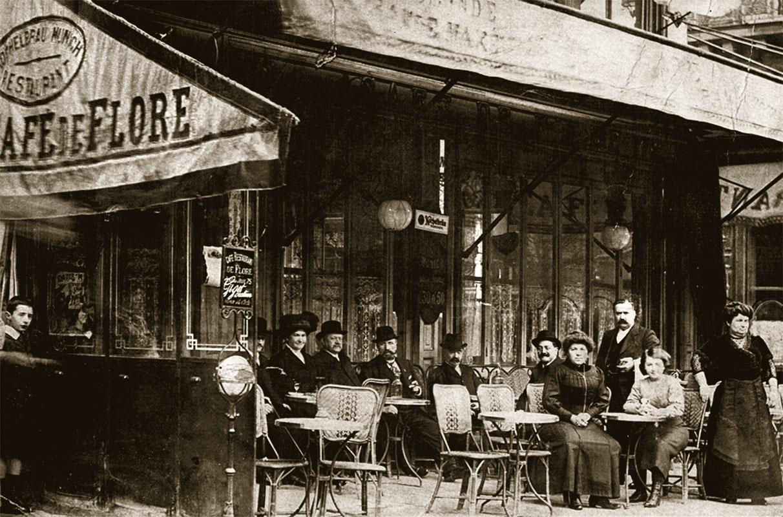 Кафе де Флор, 1900 год