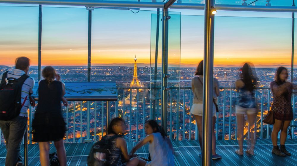 Вид с башни Монпарнас в Париже