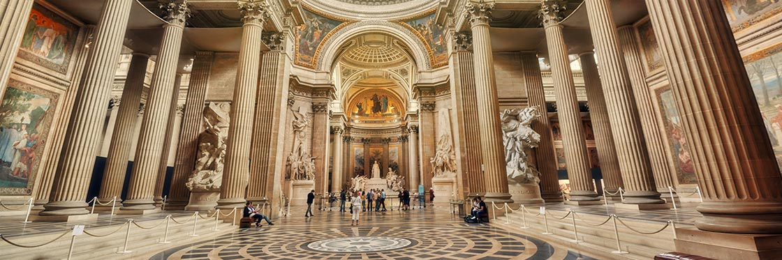 Пантеон Париж внутри