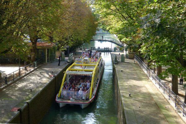 Канал Сен-Мартен в Париже фото