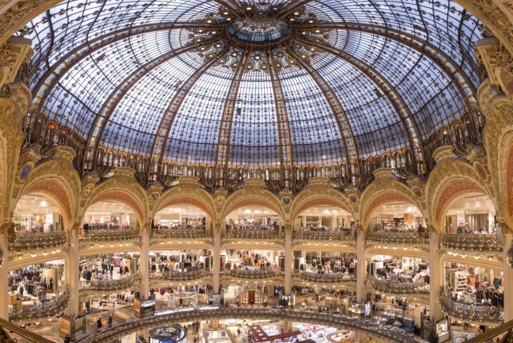 Галерея Лафайет в Париже магазины