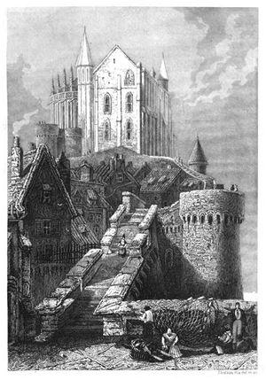 Замок во Франции Мон Сен-Мишель