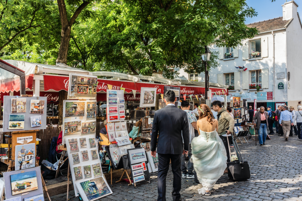 Париж художники Монмартра