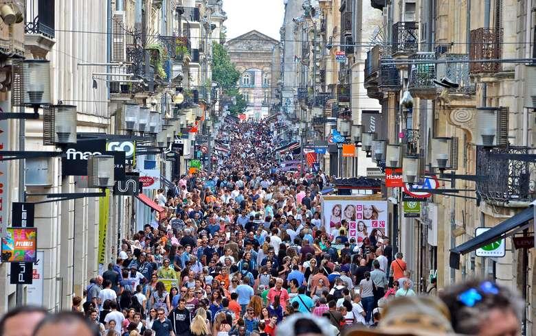 Улица Святой Екатерины в Бордо