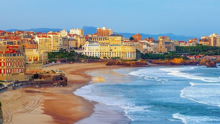 Plage du Miramar Biarritz France