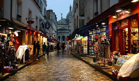 Ночные прогулки по Монмартру