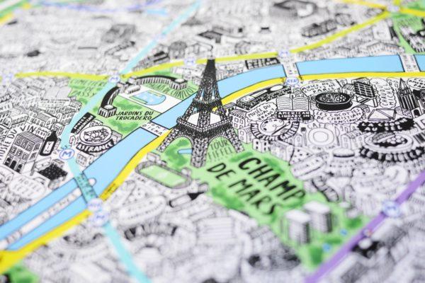 Карта Парижа с улицами