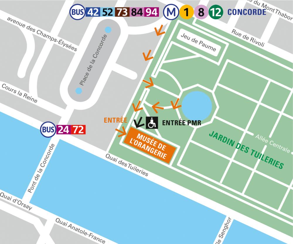 Музей Оранжери в Париже на карте