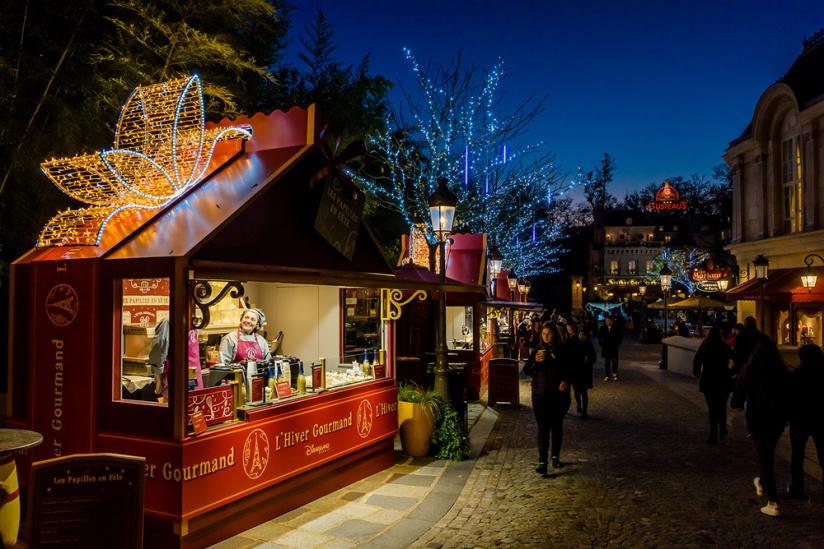 Новогодняя ярмарка в Париже