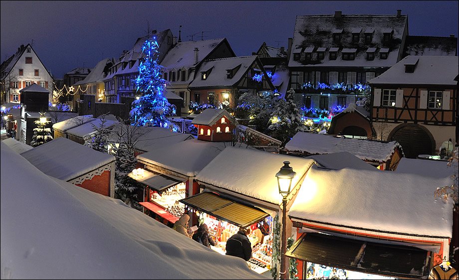Кольмар Франция фото Рождество