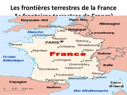 Границы Франции на карте