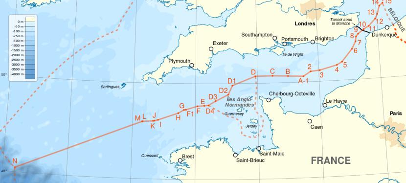 Морские границы Франции